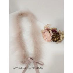 Cinturón de Marabú Rosa