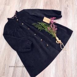 Vestido Negro Pana Mia Y Lia