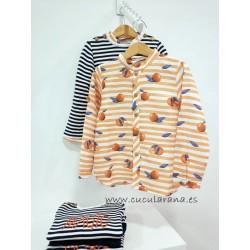 Camisa Naranjas Kids Chocolate