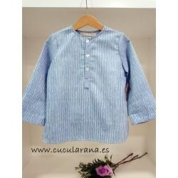 Camisa de Rayas Azul Mia y Lia